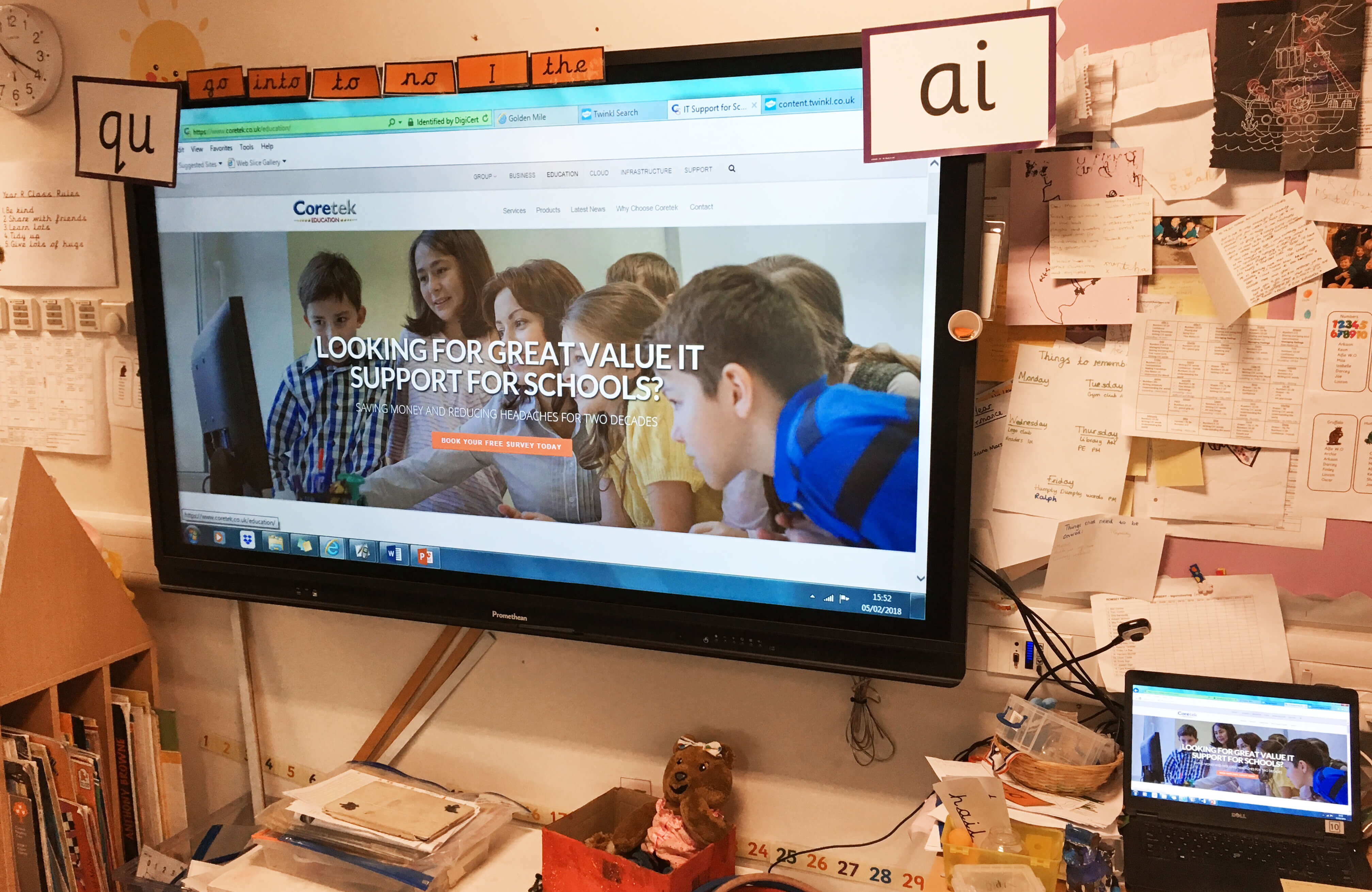 Romsey Primary School upgraded to Promethean Interactive Flat Panels – here's how it went…