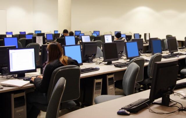 Classroom of equipment
